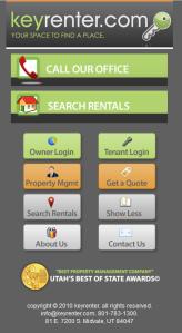keyrenter mobile site
